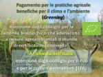 pagamento per le pratiche agricole benefiche per il clima e l ambiente greening1