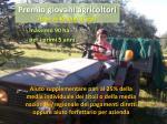 premio giovani agricoltori fino ai 40 anni di et