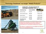 bioenergy feedstock no longer waste products
