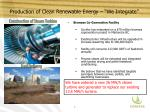 production of clean renewable energy we integrate