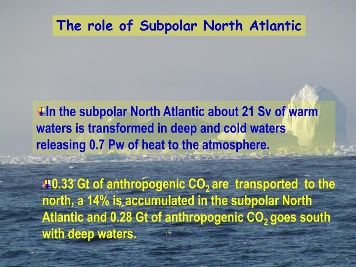 The role of Subpolar North Atlantic