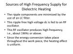 sources of high frequency supply for dielectric heating2