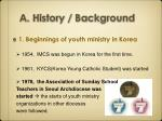 a history background
