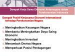 dampak kerja sama ekonomi antarnegara dalam perekonomian indonesia