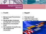 dampak kerjasama ekonomi