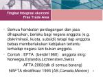 tingkat integrasi ekonomi free trade area