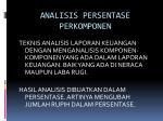analisis persentase perkomponen1