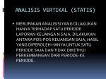 analisis vertikal statis