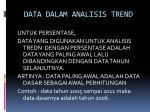data dalam analisis trend