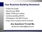 your business building homework
