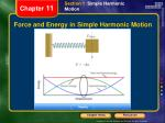 force and energy in simple harmonic motion