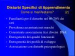 disturbi specifici di apprendimento come si manifestano 2