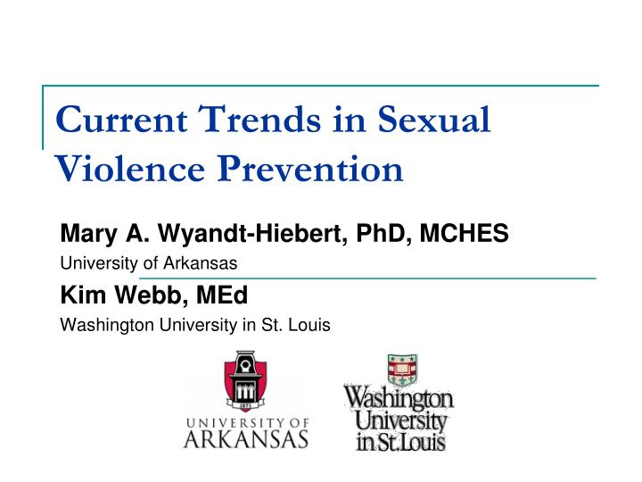 current trends in sexual violence prevention n.