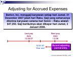 adjusting for accrued expenses
