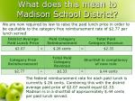what does this mean to madison school district