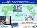 marine genome sequencing project measuring the genetic diversity of ocean microbes