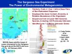 the sargasso sea experiment the power of environmental metagenomics