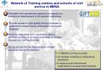network of training centers and schools of civil service in mena