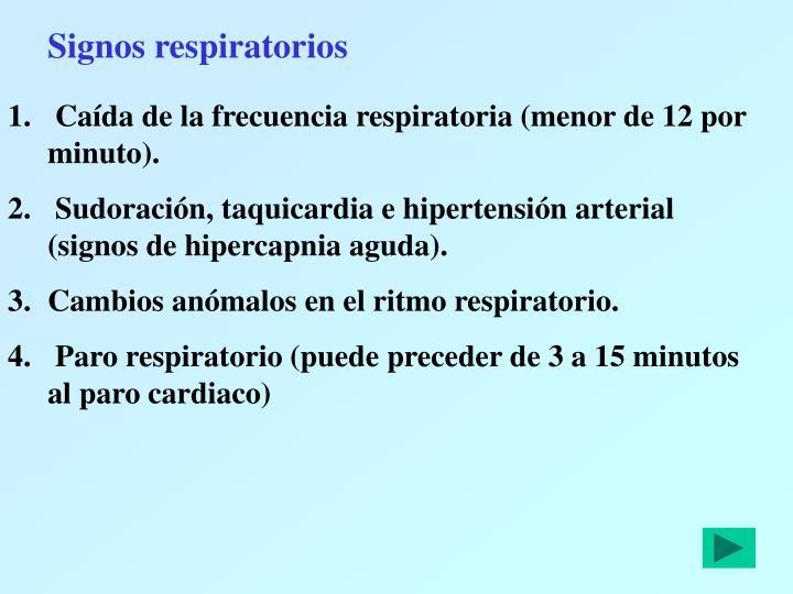 Signos respiratorios