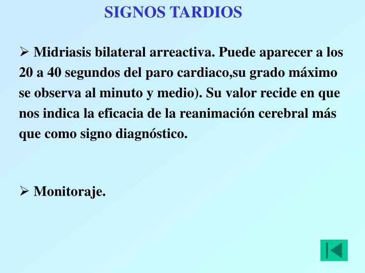 SIGNOS TARDIOS