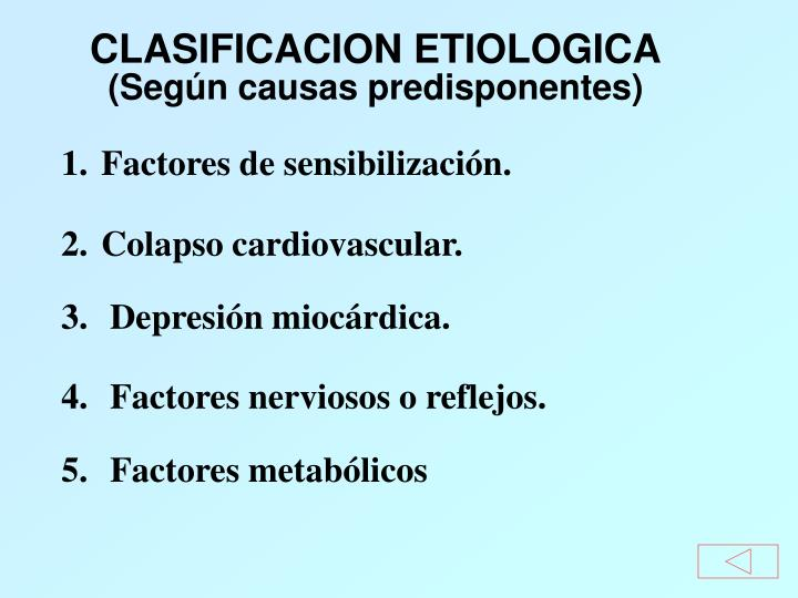 CLASIFICACION ETIOLOGICA