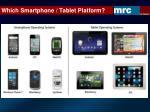 which smartphone tablet platform