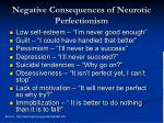 negative consequences of neurotic perfectionism