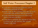 soil water processes chapter 3