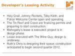 developer s leasing activity
