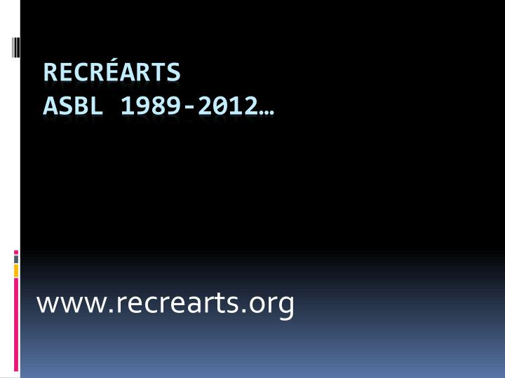 www recrearts org n.