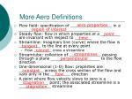 more aero definitions