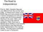 the road to independence11