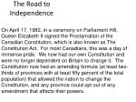 the road to independence20