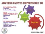 adverse events happens due to