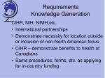 requirements knowledge generation