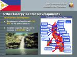 other energy sector developments