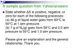 a sample question from yahoo answers