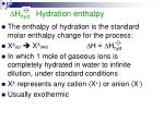 h hyd hydration enthalpy