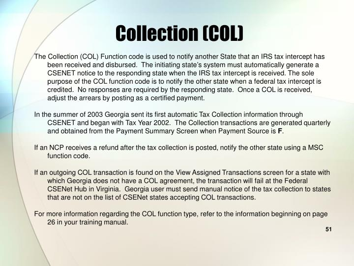 Collection (COL)