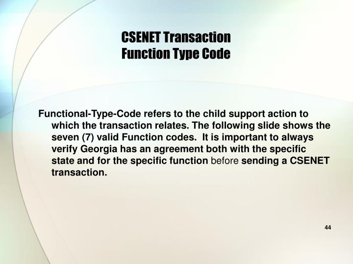 CSENET Transaction
