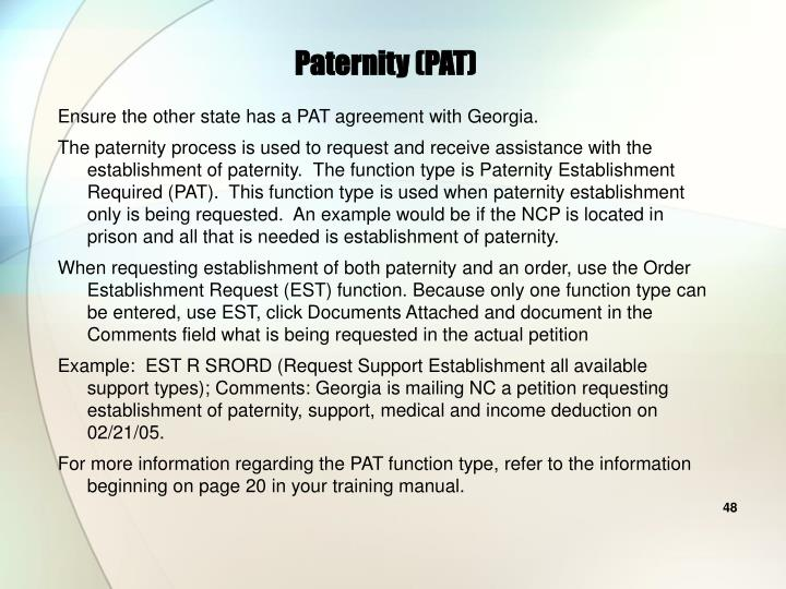 Paternity (PAT)