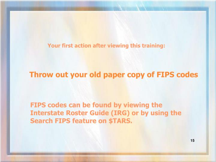 Throw out your old paper copy of FIPS codes