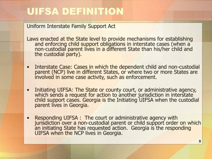 UIFSA DEFINITION