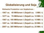 globalisierung und soja