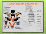 sponsorship placement