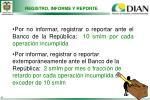 registro informe y reporte