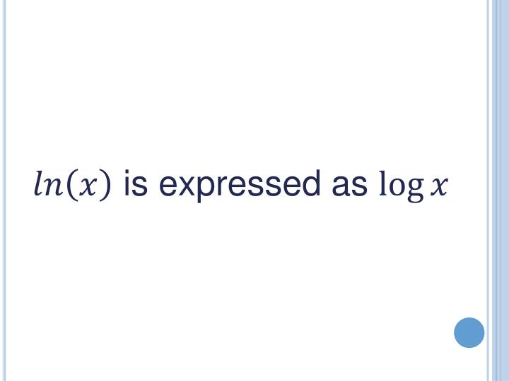 is expressed as