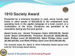 1910 society award