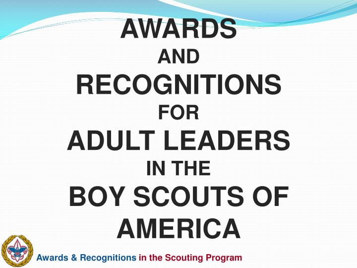awards and recognitions for adult leaders in the boy scouts of america n.