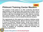 philmont training center masters